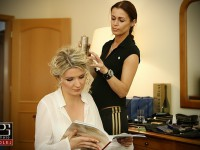 svadobny uces a makeup, obliekanie nevesty
