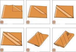 Serviettentasche Falten servietten falten besteck servietten falten zu ostern anleitung