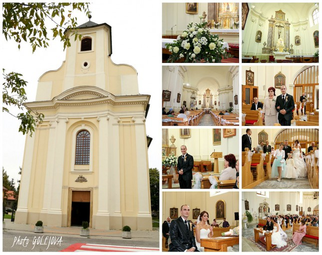 svadobny obrad kostol Dunajska Luzna