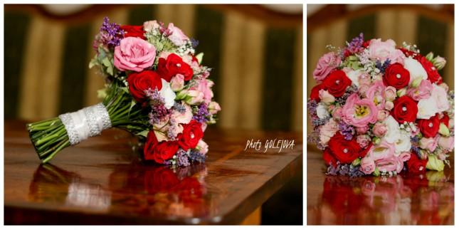 svadobna kytica mix farba ruze