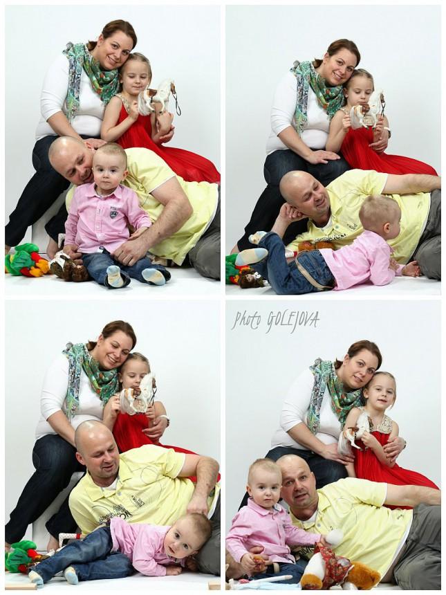 set rodinnych fotiek