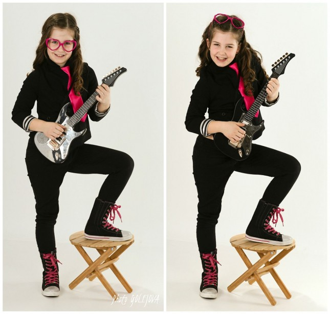 052 rockerka v okuliaroch a gitara
