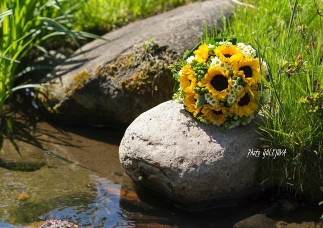 11 svadobna kytica slnecnice