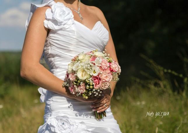 08 letna svadobna kytica ruze