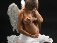 foto sbruskom anjel