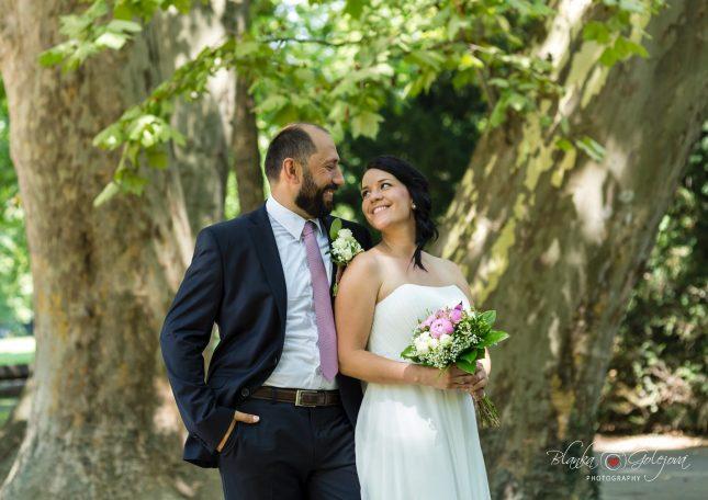 fotenie svadba v parku sade zahrade