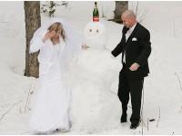 zimna svadba, sneh, exterierove foto v zime