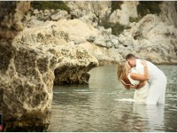 svadobne fotenie v mori