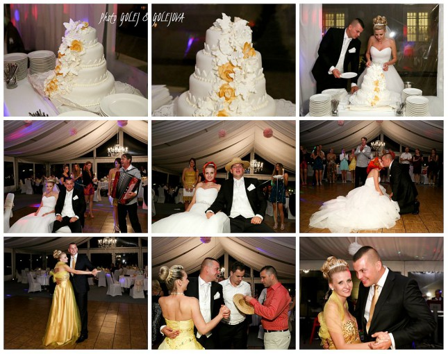 svadobna torta zacepcenie tanec Golejova