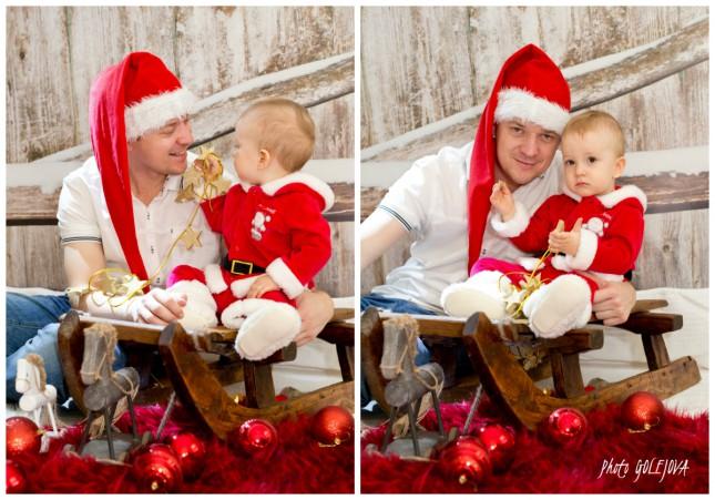 otec a syn vianocna pohladnica