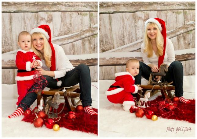 syn a mama vianocna pohladnica