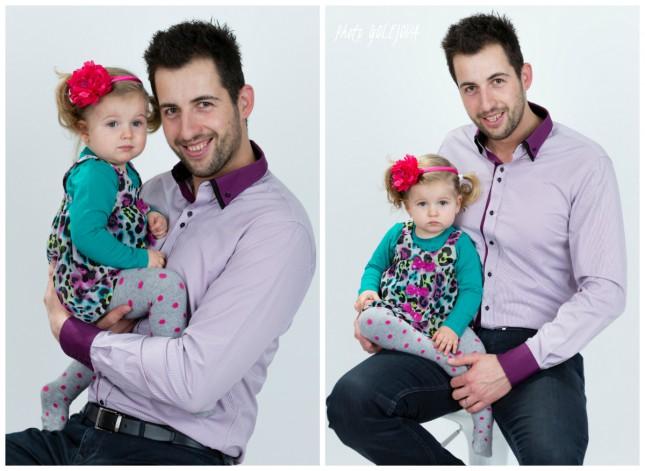 otec s dcerou fotka portret atelier