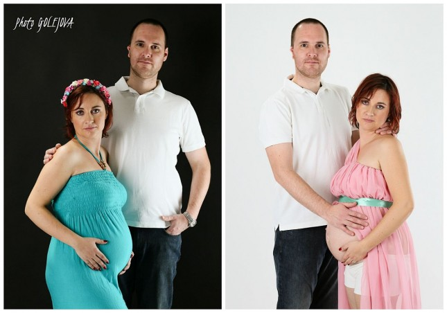 53 tehotenske fotky v atelieri