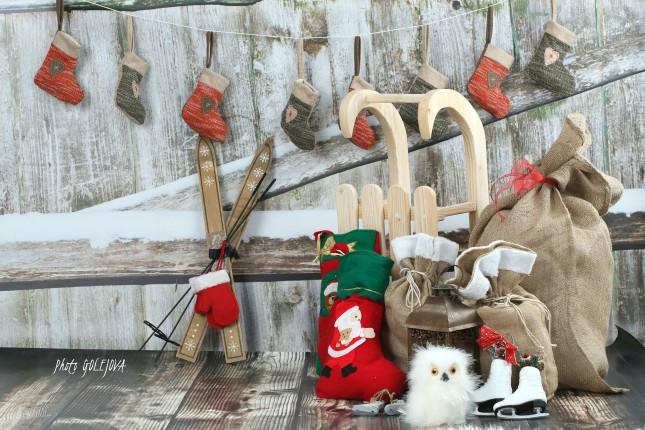 vianocny plot vrece lyze sanky