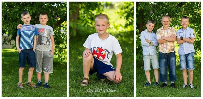 chlapci skupinky a portrety